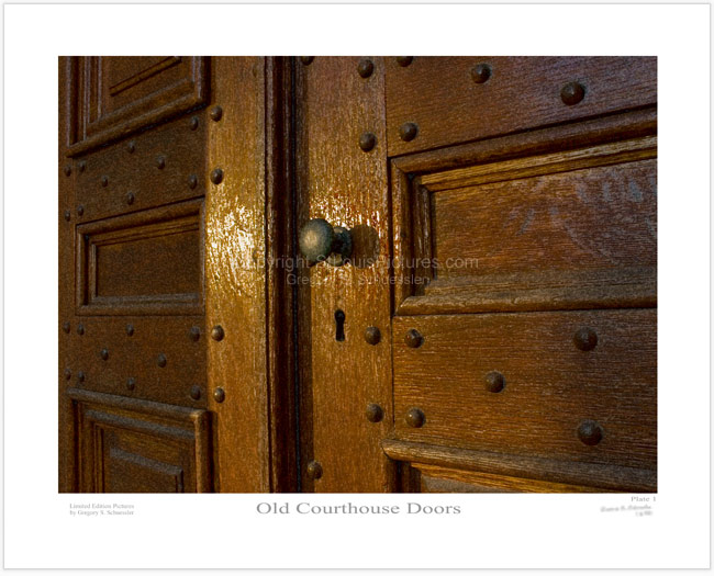 Old Courthouse Doors - Plate 1